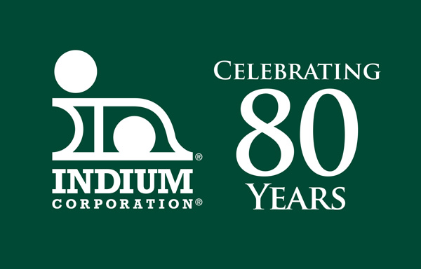 Indium Corporation 80th Anniversary Logo