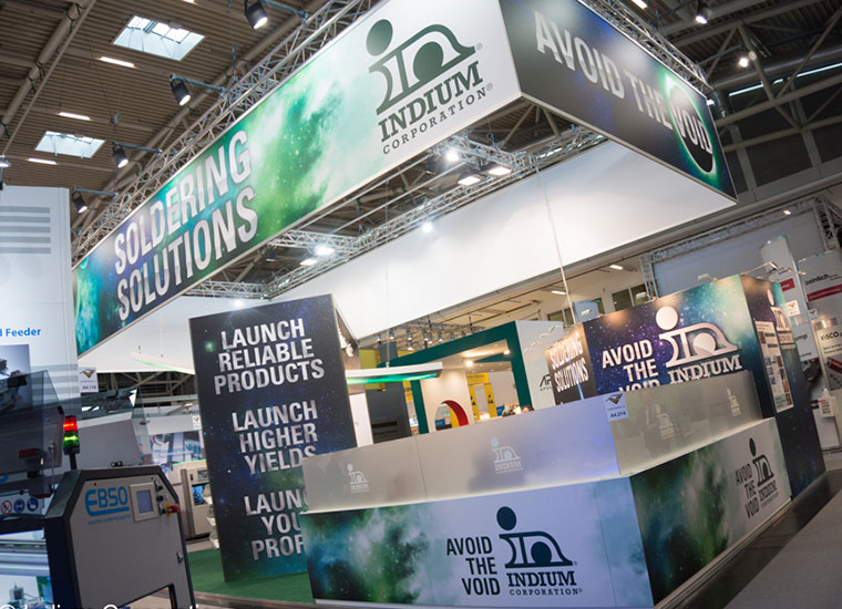 Indium Corporation Trade Show Booth designed by The Paige Group